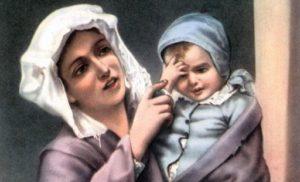 """Carte Postal Religieuse Italienne de De Chirico""""Il segno della croce """" Anderson Credit: Rue des Archives/DS/18 rue le Bua 75020 Paris France"""