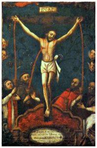 Preciosisima-sangre-de-Cristo-Anonimo-Oleo-sobre-tela-40-X-26-cms-Siglo-XVII-XVIII