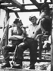 "A 19-year old Karol Wojtyla, the to-be Pope John Paul II, second from right, is seen resting during the construction of a building for a military camp in this July 1939 photo made available from Italy's ""Il Giornale"" daily newspaper on Thursday, June 21, 2001. Two months before the outbreak of World War II in Europe, Wojtyla, according to biographers, attended a military training camp in Western Ukraine, then eastern Poland, not far from where he will visit during his upcoming pilgrimage to Ukraine starting Saturday, June 23, 2001. (AP Photo/Adam Gatty-Kostyal)"